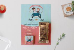 çikolata ve kahveli kart