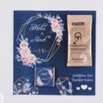çikolata ve kahveli kartlar