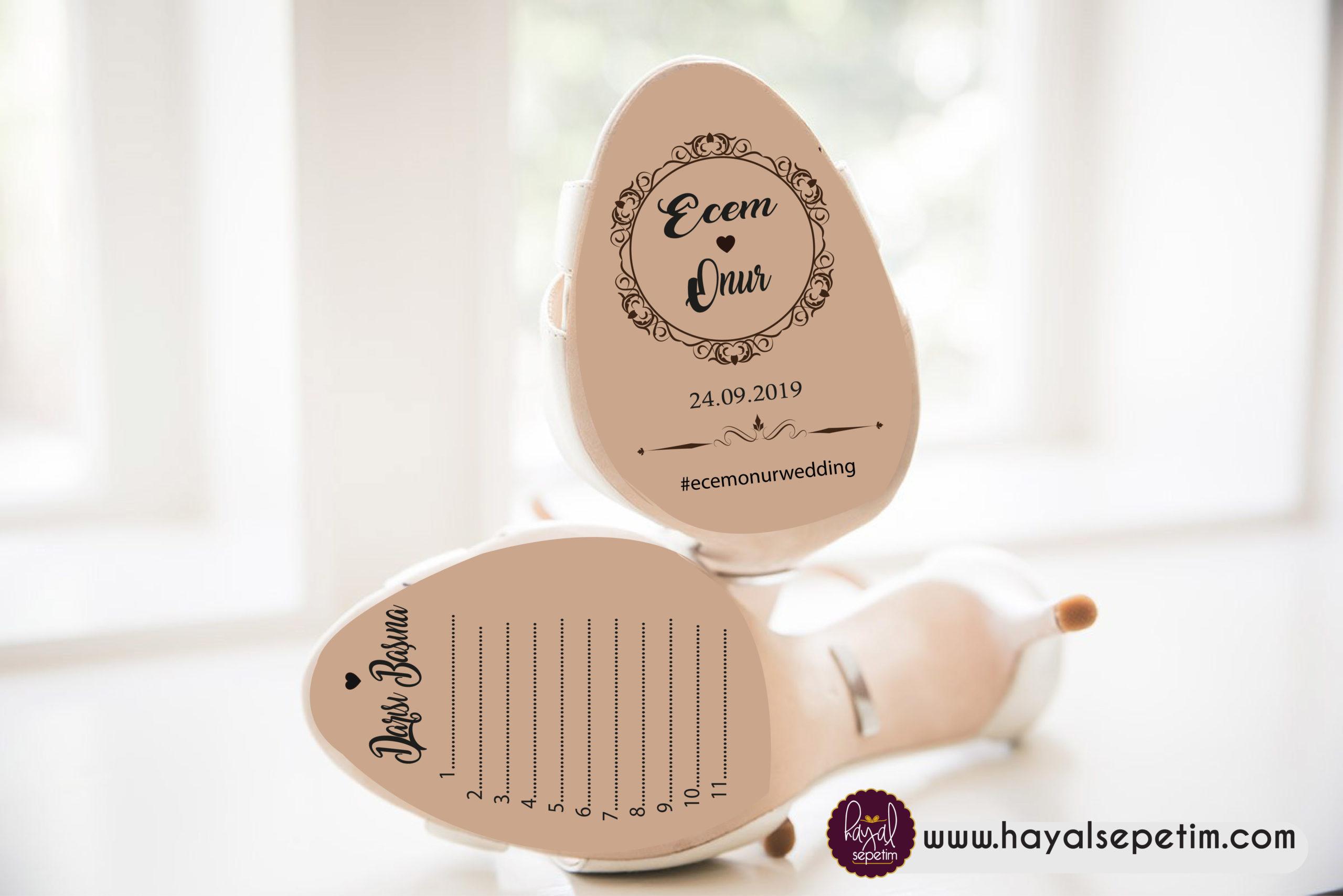 Gelin Ayakkabısı Etiketi