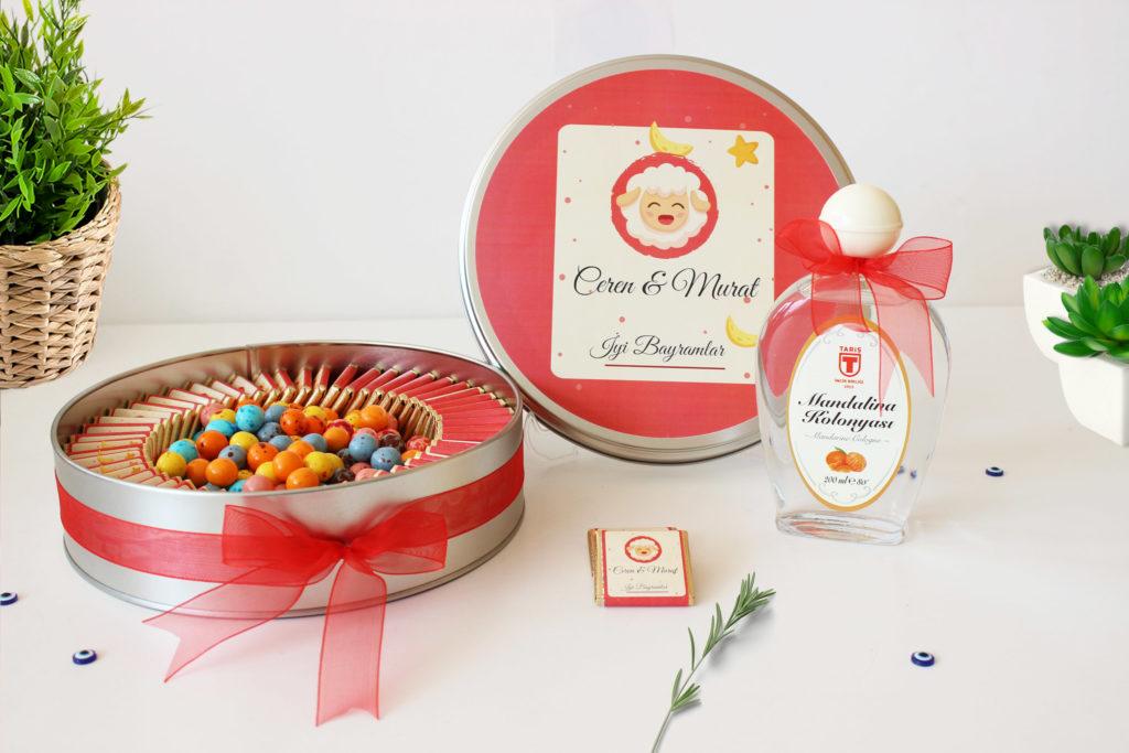 isme özel bayram çikolatası