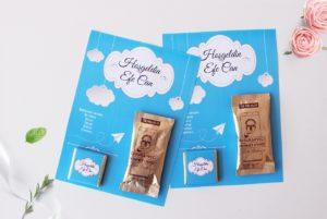 hediyelik çikolata ve kahveli kart