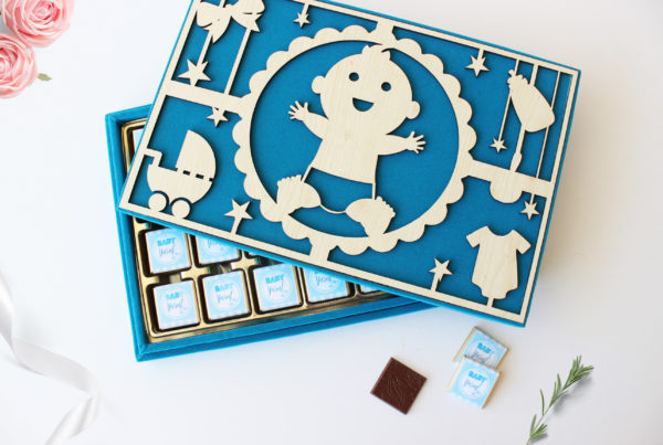 Kadife kutu bebek çikolatası