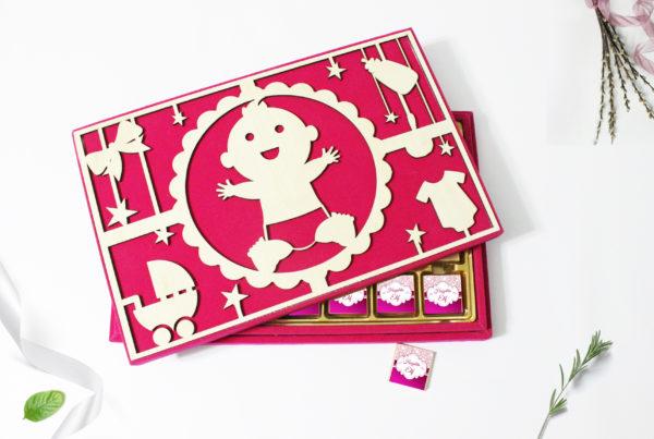 lüks kız bebek çikolatası